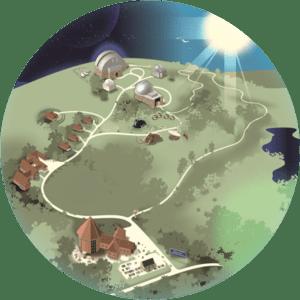 Kort over observatoriet 2021